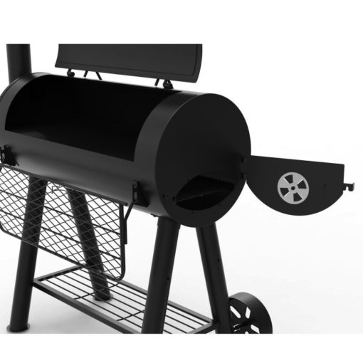 Open lid Dyna-Glo Signature Series Heavy-Duty Barrel Charcoal Grill - DGSS675CB-D