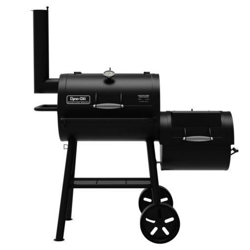 Dyna-Glo Signature Series Barrel Charcoal Grill and Offset Smoker - DGSS730CBO-D-KIT