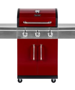 Hero shot of Dyna Glo 3 Burner Red LP Gas Grill - DGG424RNP-D