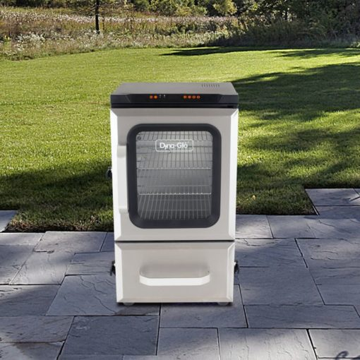 Dyna-Glo 30 inch Digital Bluetooth Electric Smoker DGU732SDE-D lifestyle shot