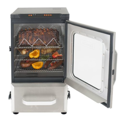 Dyna-Glo 30 inch Digital Bluetooth Electric Smoker DGU732SDE-D - smoker with food