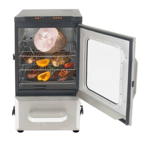 Dyna-Glo 30 inch Digital Bluetooth Electric Smoker DGU732SDE-D - smoker with food thermometer