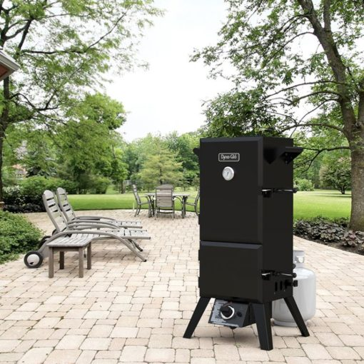 Dyna-Glo 36 inch Dual Door LP Gas Smoker DGY784BDP - lifestyle shot