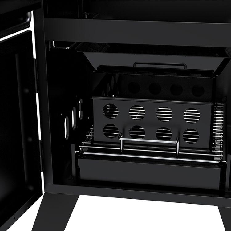 Dyna-Glo 36 inch Vertical Charcoal Smoker DGX780BDC-D smoker tray