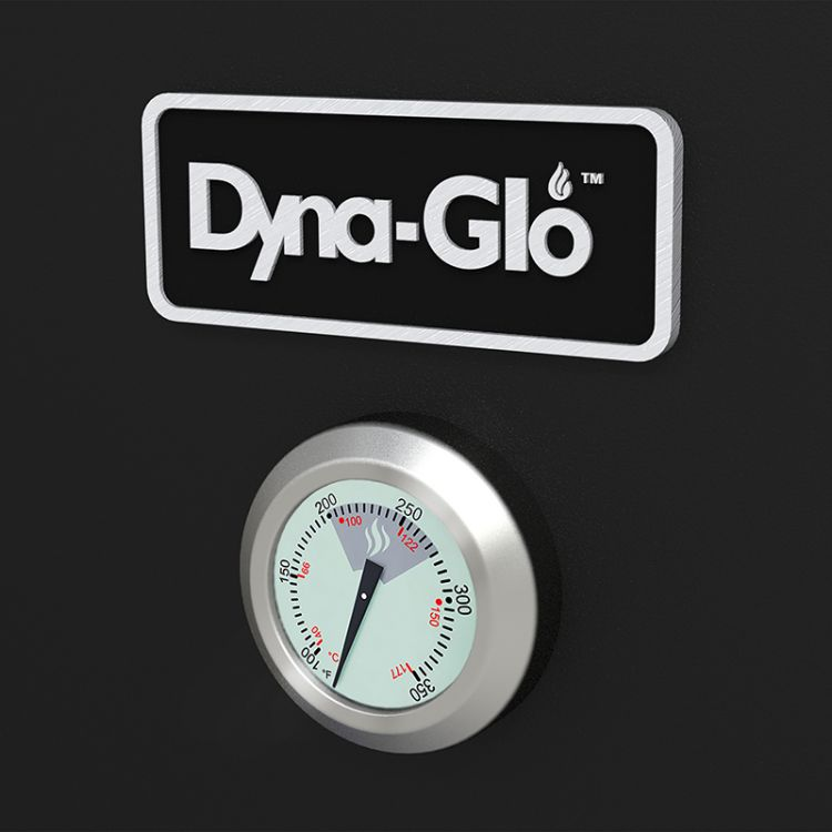 Dyna-Glo 36 inch Vertical Charcoal Smoker DGX780BDC-D thermometer