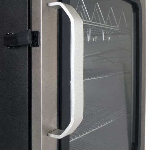 Dyna-Glo 40 inch Single Door Digital Bluetooth Electric Smoker - DGU951SSE-D - door with latch
