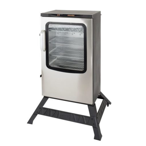 Dyna-Glo 40 inch Single Door Digital Bluetooth Electric Smoker - DGU951SSE-D - stand
