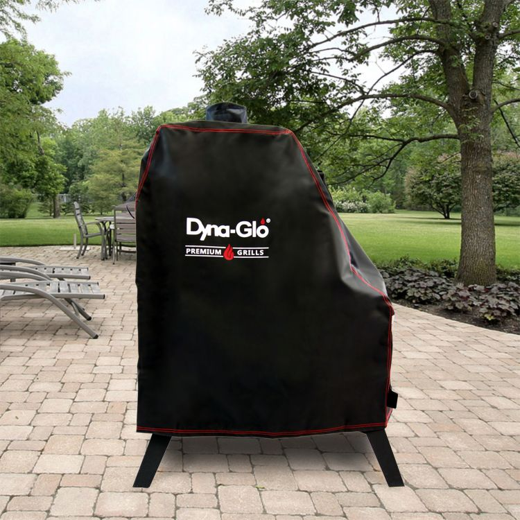 Dyna-Glo DG1176CSC Premium Vertical Offset Charcoal Smoker Cover - lifestyle