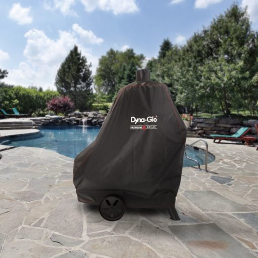 Dyna-Glo DG1382CSC Premium Vertical Offset Charcoal Smoker Cover - lifestyle