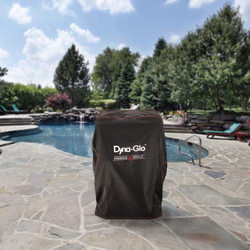 Dyna-Glo DG732ESC Premium Vertical Smoker Cover - lifestyle