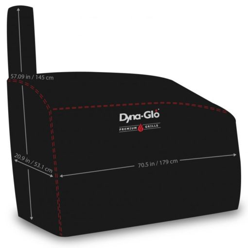 dimensions of Dyna-Glo DG962CBC Barrel Charcoal Grill Cover - DG962CBC