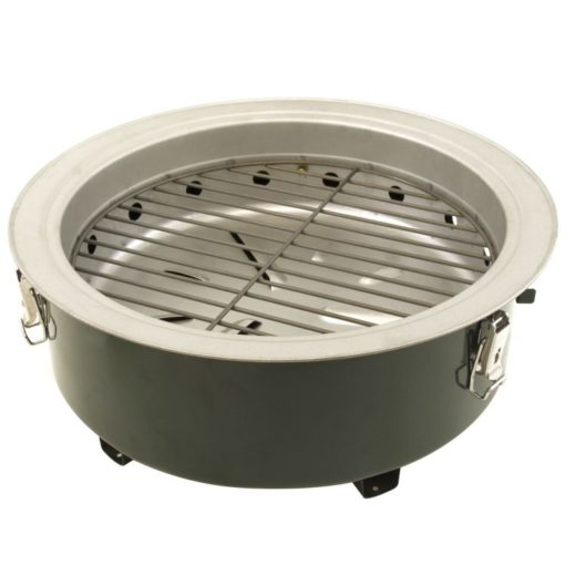 Base tray of the Dyna-Glo DGVS390GC-D Compact Charcoal Bullet Smoker