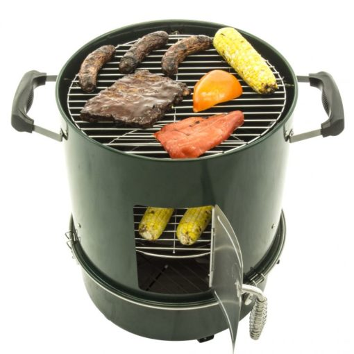 Cooking on the Dyna-Glo DGVS390GC-D Compact Charcoal Bullet Smoker