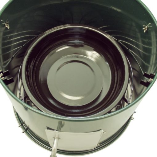 tray of the Dyna-Glo DGVS390GC-D Compact Charcoal Bullet Smoker