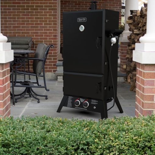 Dyna-Glo DGW1904BDP-D 43 inch Wide Body LP Gas Smoker DGW1904BDP-D-lifestyle
