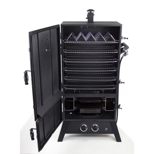 Dyna-Glo DGW1904BDP-D 43 inch Wide Body LP Gas Smoker DGW1904BDP-D-open door