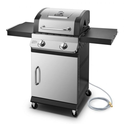 Side view of the Dyna-Glo Premier 2 Burner Natural Gas Grill - DGP321SNN-D