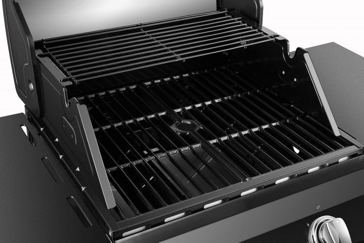 Cooking area on the Dyna Glo Premier 2 Burner Propane Gas Grill - DGP321CNP-D