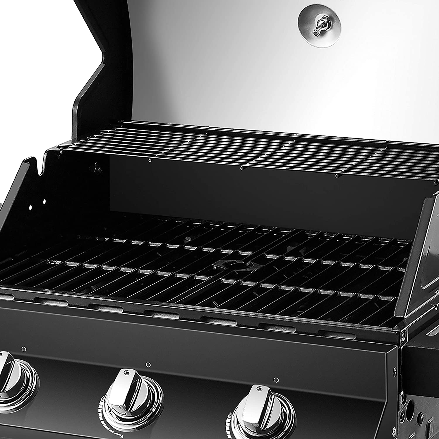 cooking area on the Dyna-Glo Premier 3 Burner Natural Gas Grill - DGP397CNN-D