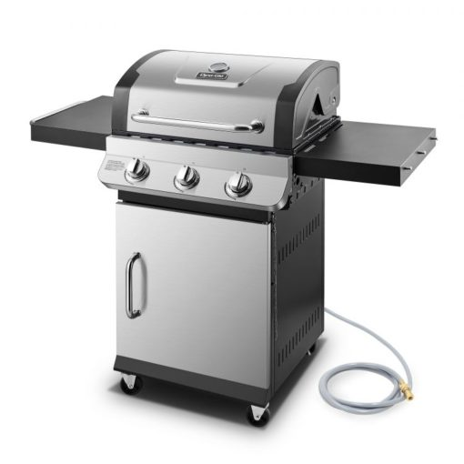 side view of the Dyna-Glo Premier 3 Burner Natural Gas Grill - DGP397SNN-D