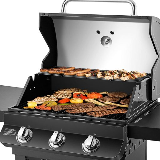 Cooking with the Dyna-Glo Premier 3 Burner Propane Gas Grill - Black DGP397CNP-D