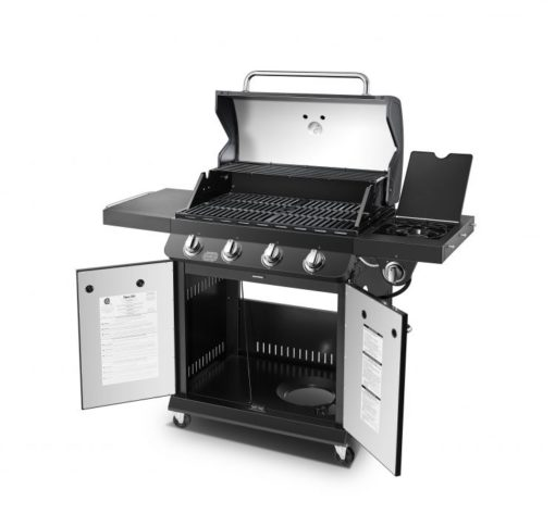 Open view of Dyna Glo Premier 4 Burner Propane Gas Grill - DGP483CSP-D