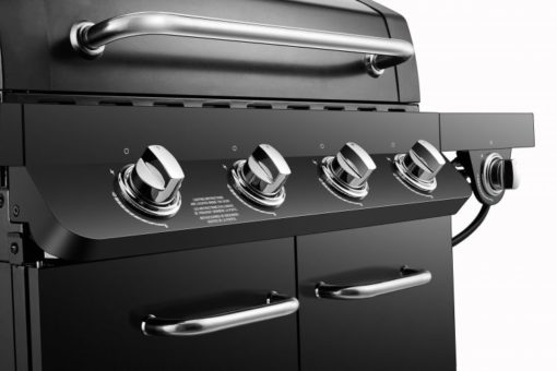 Ignition and Control knobs on the Dyna Glo Premier 4 Burner Propane Gas Grill - DGP483CSP-D