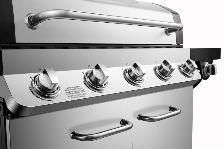Dyna Glo Premier 5 Burner Natural Gas Grill - DGP552SSN-D - burner knobs