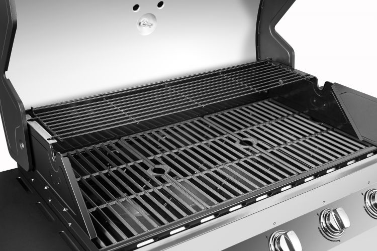 Dyna Glo Premier 5 Burner Natural Gas Grill - DGP552SSN-D - cooking space