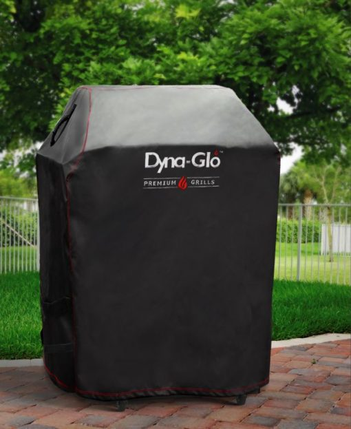 Lifestyle shot of Dyna-Glo Premium Grill Cover for 29in-D300C
