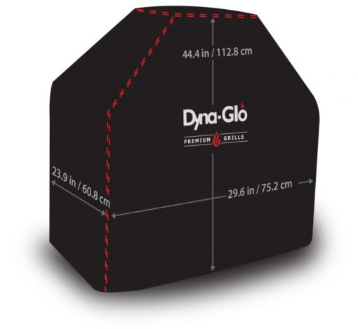 Dimensions of the Dyna-Glo Premium Grill Cover for 29in-D300C