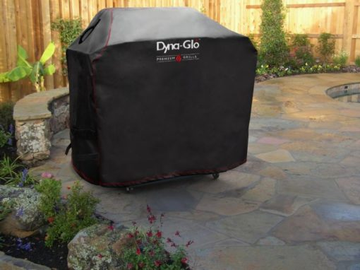 Lifestyle shot of the Dyna-Glo Premium Grill Cover for 75in grills - DG700C