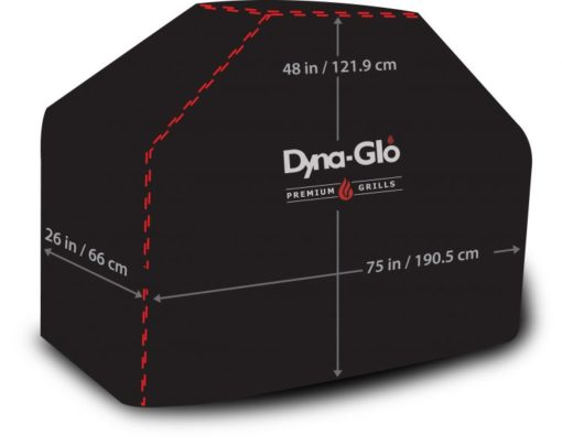 Dimensions of the Dyna-Glo Premium Grill Cover for 75in grills - DG700C