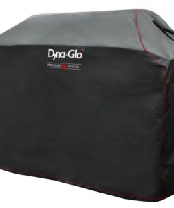Side Angle of the Dyna-Glo Premium Grill Cover for 75in grills - DG700C