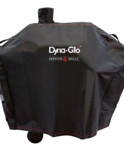 Front view of the Dyna-Glo Premium Medium Charcoal Grill Cover - DG405CC