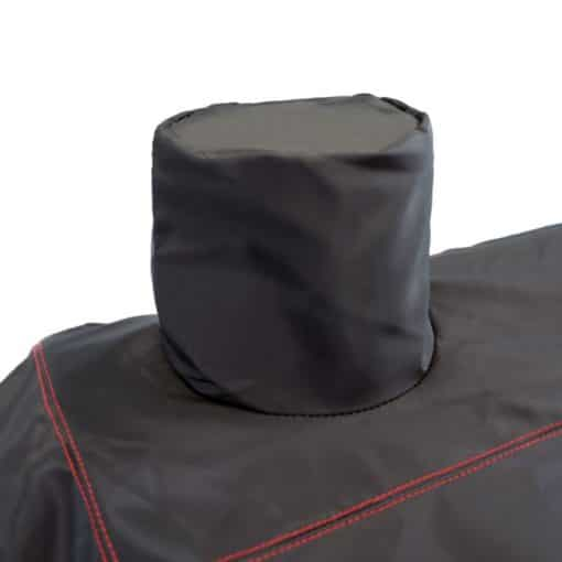 Close up on the Dyna-Glo Premium Medium Charcoal Grill Cover - DG405CC