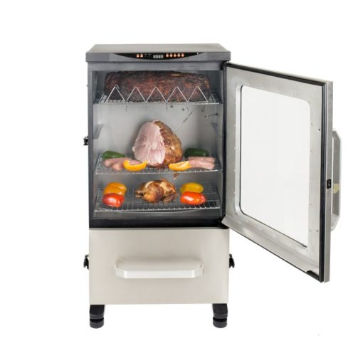 Dyna-Glo Two Door Digital Bluetooth Electric Smoker DGU951SDE-D 40 - food door open