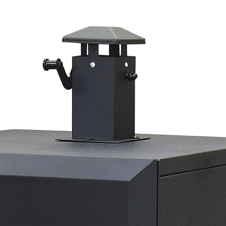 Dyna-Glo Vertical Offset Charcoal Smoker DGO1176BDC-D - smokestack