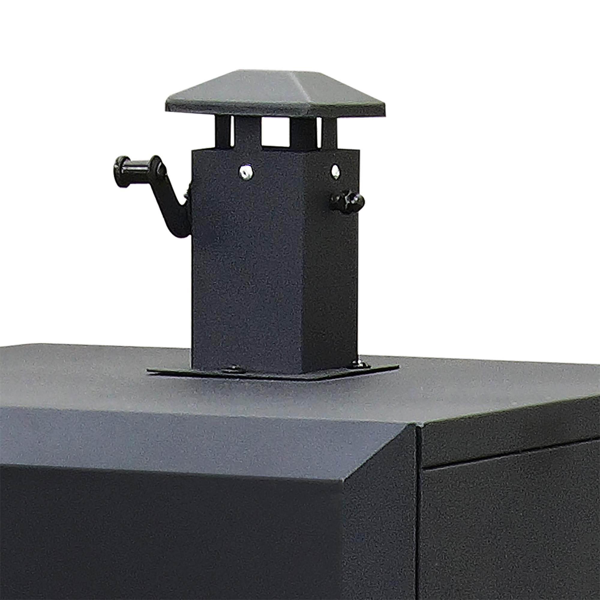 Dyna-Glo Wide Body Vertical Offset Charcoal Smoker DGO1890BDC-D - smokestack