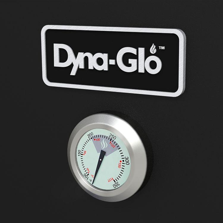 Dyna-Glo Wide Body Vertical Offset Charcoal Smoker DGO1890BDC-D - thermometer