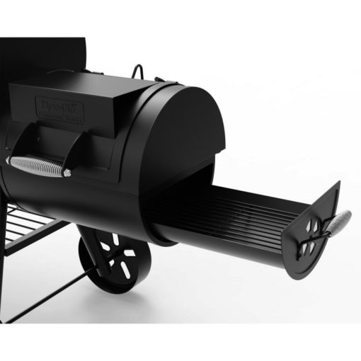 Offset smoker or secondary cooking space charcoal trayDyna-Glo Signature Series Barrel Charcoal Grill and Offset Smoker - DGSS962CBO-D
