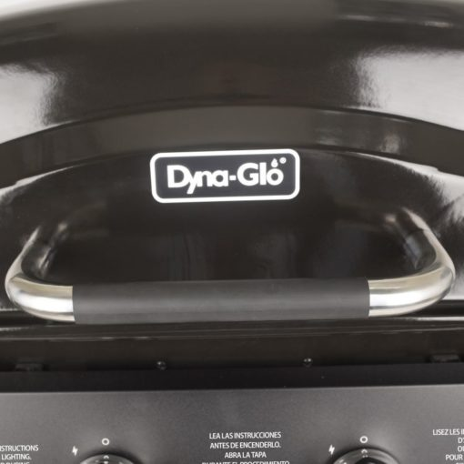 Handle on the Dyna-Glo 2 Burner Open Cart Propane Gas Grill - DGB300CNP-D