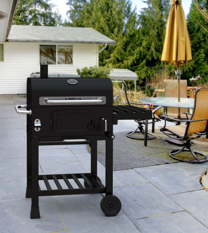 Dyna-Glo Compact Charcoal Grill - DGD381BNC-D Lifestyle shot