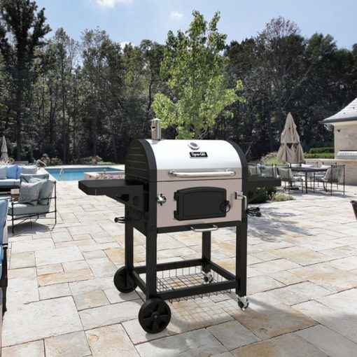 lifestyle shot of the Dyna-Glo Heavy-Duty Charcoal Grill Stainless Steel - DGN486SNC-D