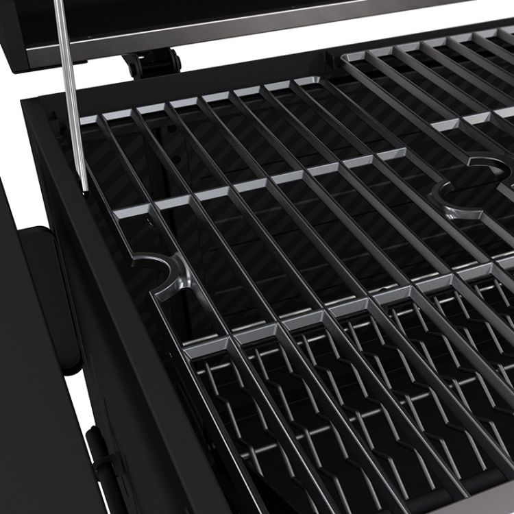 Porcelain-enameled, cast iron cooking grates for the Dyna-Glo Heavy-Duty Charcoal Grill Stainless Steel - DGN486SNC-D