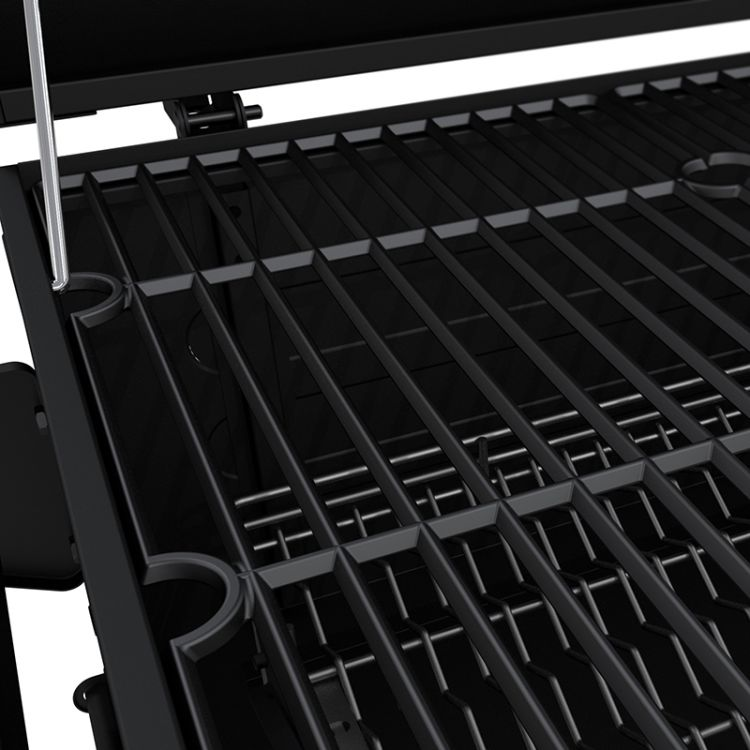 Porcelain-enameled, cast iron cooking grates for the Dyna-Glo Heavy-Duty Compact Charcoal Grill Black Powder Coat - DGN405DNC-D