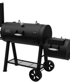 Dyna-Glo Signature Series Barrel Charcoal Grill and Offset Smoker - DGSS962CBO-D-KIT