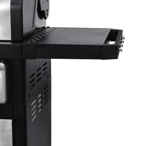 Side tables on the Dyna-Glo Smart Space Living 2 Burner LP Gas Grill