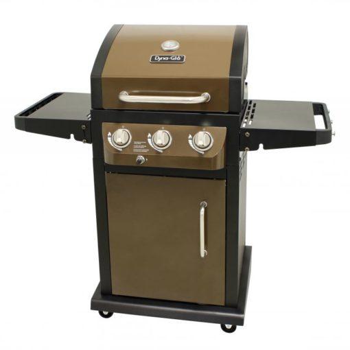 Dyna-Glo Smart Space Living 3 Burner LP Gas Grill – Burnishd Bronze - DGE390BNP-D