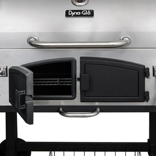 Dual Steel Doors for the Dyna-Glo X-Large Premium Dual Chamber Charcoal Grill - DGN576SNC-D